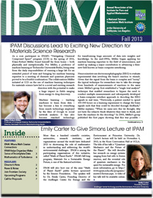 IPAM newsletter 2013 cover only